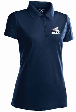 Chicago White Sox Womens Pique Xtra Lite Polo Shirt (Cooperstown) (Team Color: Navy)