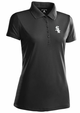 Chicago White Sox Womens Pique Xtra Lite Polo Shirt (Team Color: Black)