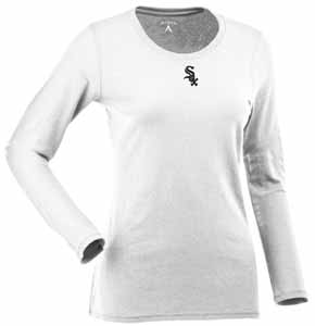 Chicago White Sox Womens Relax Long Sleeve Tee (Color: White) - Large