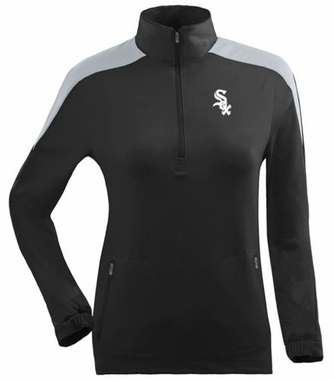 Chicago White Sox Womens Succeed 1/4 Zip Performance Pullover (Team Color: Black) - X-Large