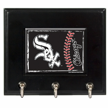 Chicago White Sox Wooden Keyhook Rack