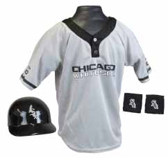 Chicago White Sox Baseball Helmet and Jersey Set