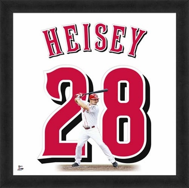"Chris Heisey, Reds UNIFRAME 20"" x 20"""