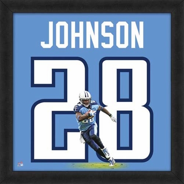 "Chris Johnson, Titans UNIFRAME 20"" x 20"""