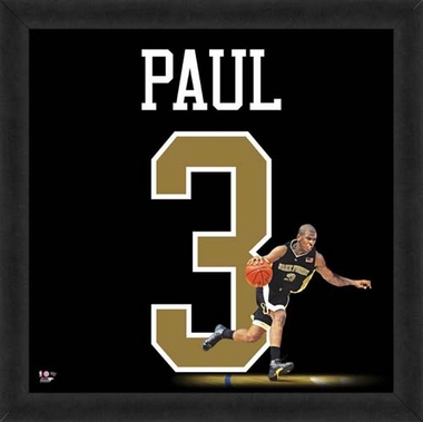 "Chris Paul, Wake Forest Demon Deacons Uniframe 20"" x 20"""
