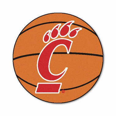 Cincinnati 27 Inch Basketball Shaped Rug