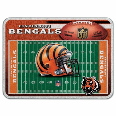 Cincinnati Bengals 11 x 15 Glass Cutting Board