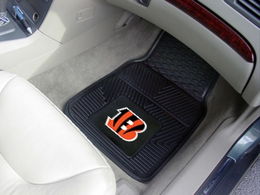 Cincinnati Bengals 2 Piece Heavy Duty Vinyl Car Mats