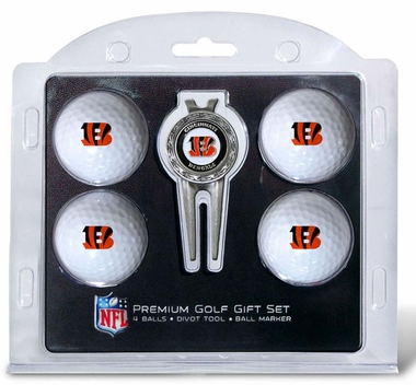 Cincinnati Bengals 4 Ball and Divot Tool Set