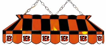 Cincinnati Bengals 40 Inch Rectangular Stained Glass Billiard Light