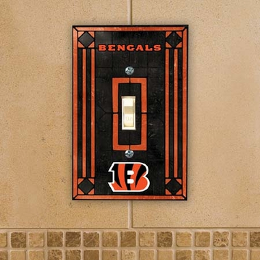 Cincinnati Bengals Art Glass Lightswitch Cover