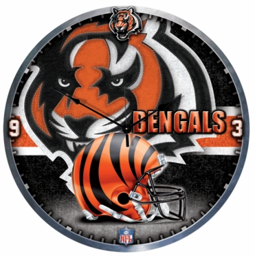 Cincinnati Bengals Big 18 Inch Hi Definition Clock