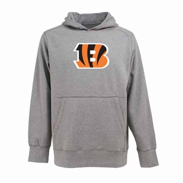 Cincinnati Bengals Big Logo Mens Signature Hooded Sweatshirt (Color: Gray)