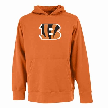 Cincinnati Bengals Big Logo Mens Signature Hooded Sweatshirt (Team Color: Orange)