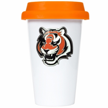 Cincinnati Bengals Ceramic Travel Cup (Team Color Lid)