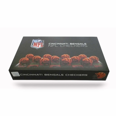 Cincinnati Bengals Checkers Set