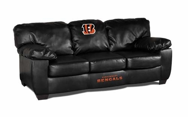 Cincinnati Bengals Leather Classic Sofa