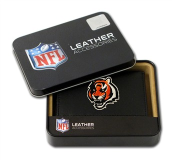 Cincinnati Bengals Embroidered Leather Tri-Fold Wallet