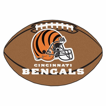 Cincinnati Bengals Football Shaped Rug