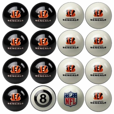 Cincinnati Bengals Home and Away Complete Billiard Ball Set