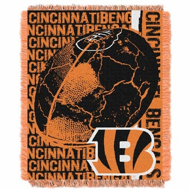 Cincinnati Bengals Jacquard Woven Throw Blanket