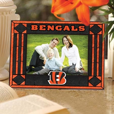 Cincinnati Bengals Landscape Art Glass Picture Frame