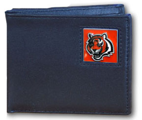Cincinnati Bengals Leather Bifold Wallet (F)
