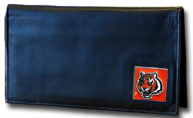 Cincinnati Bengals Leather Checkbook Cover (F)