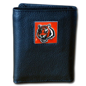 Cincinnati Bengals Leather Trifold Wallet (F)