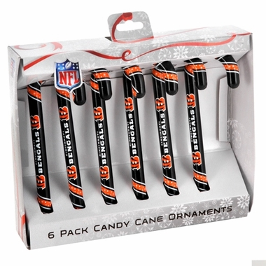 Cincinnati Bengals NFL 2013 Candy Cane Ornament Set of 6