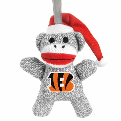 Cincinnati Bengals NFL Plush Sock Monkey Ornament