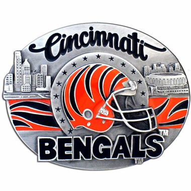 Cincinnati Bengals Enameled Belt Buckle