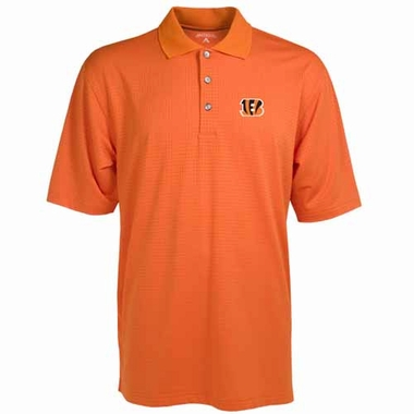 Cincinnati Bengals Mens Phoenix Waffle Weave Polo (Color: Orange)