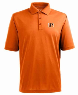 Cincinnati Bengals Mens Pique Xtra Lite Polo Shirt (Color: Orange)