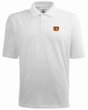 Cincinnati Bengals Mens Pique Xtra Lite Polo Shirt (Color: White)
