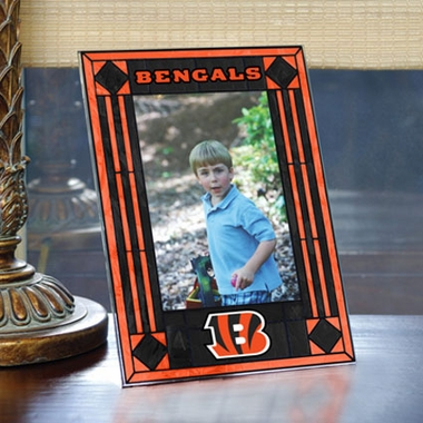 Cincinnati Bengals Portrait Art Glass Picture Frame