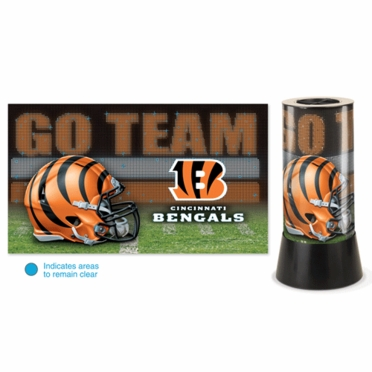 Cincinnati Bengals Rotating Lamp