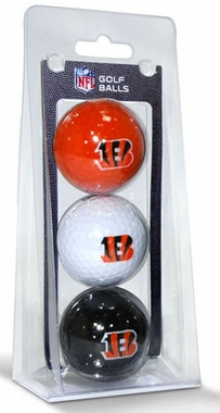 Cincinnati Bengals Set of 3 Multicolor Golf Balls