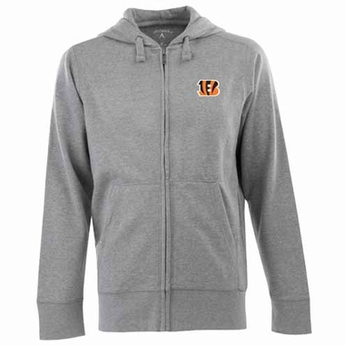 Cincinnati Bengals Mens Signature Full Zip Hooded Sweatshirt (Color: Gray)