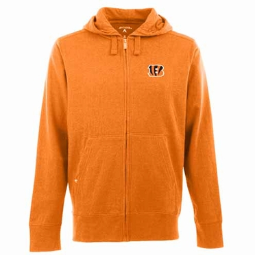Cincinnati Bengals Mens Signature Full Zip Hooded Sweatshirt (Team Color: Orange)