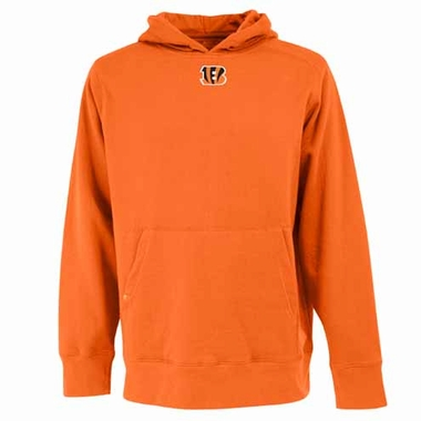 Cincinnati Bengals Mens Signature Hooded Sweatshirt (Color: Orange)