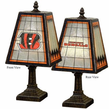 Cincinnati Bengals Small Art Glass Lamp