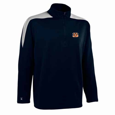 Cincinnati Bengals Mens Succeed 1/4 Zip Performance Pullover (Color: Smoke)