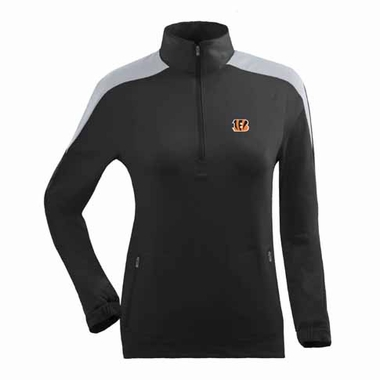Cincinnati Bengals Womens Succeed 1/4 Zip Performance Pullover (Team Color: Black)