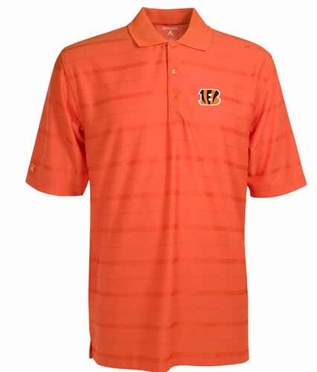Cincinnati Bengals Mens Tonal Polo (Team Color: Orange)