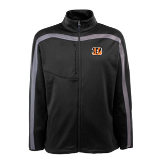 Cincinnati Bengals Mens Viper Full Zip Performance Jacket (Team Color: Black)