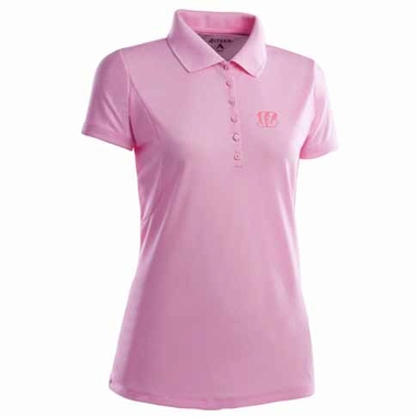 Cincinnati Bengals Womens Pique Xtra Lite Polo Shirt (Color: Pink)