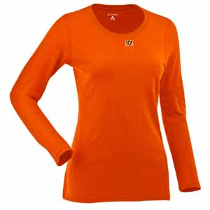 Cincinnati Bengals Womens Relax Long Sleeve Tee (Team Color: Orange) - Medium
