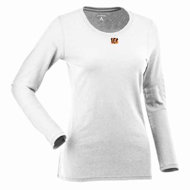 Cincinnati Bengals Womens Relax Long Sleeve Tee (Color: White)