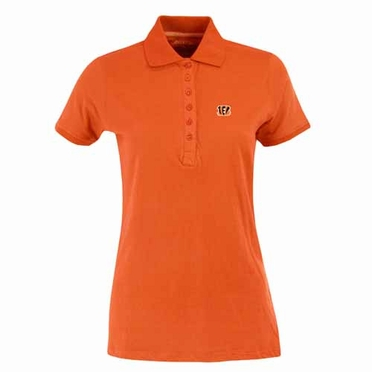 Cincinnati Bengals Womens Spark Polo (Team Color: Orange)